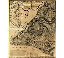 American Revolutionary War Era Maps 1750-1786 224 A plan of the city of New York & its environs to Greenwich on the North or Hudsons River and to Crown Point Photographic Print
