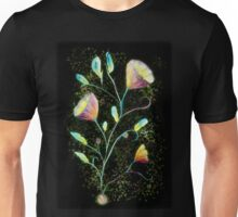 Green flowers in space Unisex T-Shirt