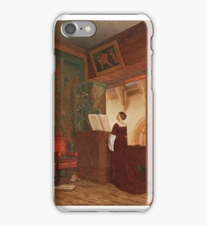 Ellen Clacy - A Chapel Interior With An Elegant Lady Playing The Virginal  iPhone Case/Skin