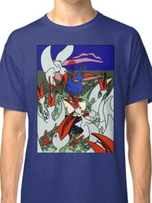 Seagulls in a frenzy Classic T-Shirt