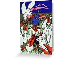 Seagulls in a frenzy Greeting Card