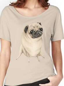 Sweet Fawn Pug Women's Relaxed Fit T-Shirt