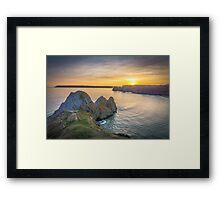 Three Cliffs Sunset Framed Print