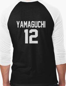 Haikyuu!! Jersey Yamaguchi Number 12 (Karasuno) Men's Baseball ¾ T-Shirt