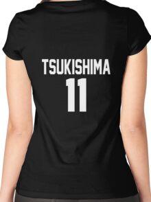 Haikyuu!! Jersey Tsukishima Number 11 (Karasuno) Women's Fitted Scoop T-Shirt