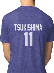Haikyuu!! Jersey Tsukishima Number 11 (Karasuno) Tri-blend T-Shirt