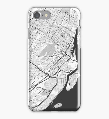 Montreal Map Gray iPhone Case/Skin