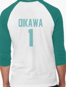 Haikyuu!! Oikawa Jersey Number 1 (Aoba) Men's Baseball ¾ T-Shirt