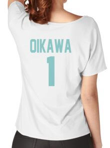 Haikyuu!! Oikawa Jersey Number 1 (Aoba) Women's Relaxed Fit T-Shirt