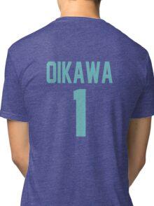 Haikyuu!! Oikawa Jersey Number 1 (Aoba) Tri-blend T-Shirt