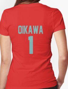 Haikyuu!! Oikawa Jersey Number 1 (Aoba) Womens Fitted T-Shirt