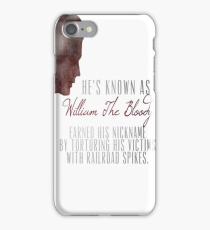 "William ""The Bloody"" Pratt - Spike - iPhone Case/Skin"