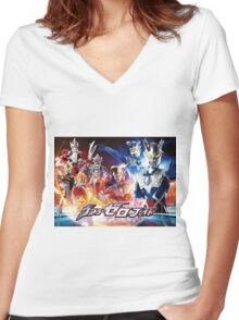 A New Power Women's Fitted V-Neck T-Shirt