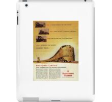 Historical railrod poster iPad Case/Skin