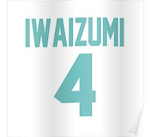 Haikyuu!! Iwaizumi Jersey Number 4 (Aoba) Poster