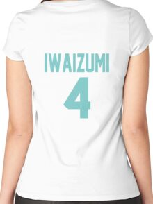 Haikyuu!! Iwaizumi Jersey Number 4 (Aoba) Women's Fitted Scoop T-Shirt