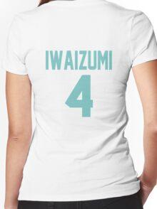 Haikyuu!! Iwaizumi Jersey Number 4 (Aoba) Women's Fitted V-Neck T-Shirt