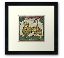 Leo 16th Century Woodcut Framed Print