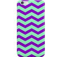 Purple Green Chevron Pattern Chevrons  iPhone Case/Skin