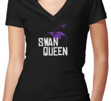 Swan Queen S1 - The Forbidden Fruit Women's Fitted V-Neck T-Shirt