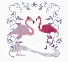 Pink Flamingos One Piece - Short Sleeve
