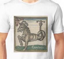 Capricorn Woodcut Unisex T-Shirt