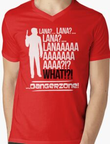 LANAAAAAAA!?!... Danger Zone! (Alternative) Mens V-Neck T-Shirt
