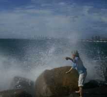 Big Surf down at the Spit by MardiGCalero