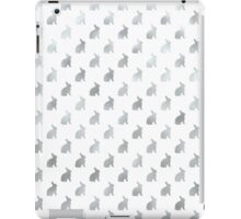Silver Bunny Faux Foil Background Bunnies Easter iPad Case/Skin
