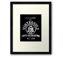 College of Winterhold - Skyrim - College Jersey Framed Print