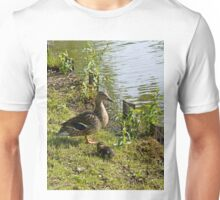 Mother Duck and Duckling Unisex T-Shirt