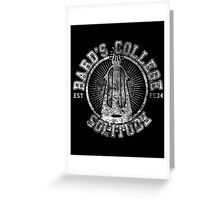 Bard's College - Skyrim - College Jersey Greeting Card
