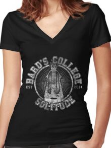 Bard's College - Skyrim - College Jersey Women's Fitted V-Neck T-Shirt