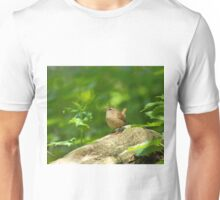 Winter Wren in Woodland Unisex T-Shirt