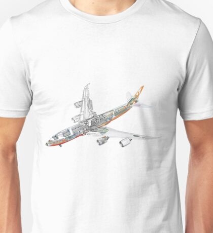 Boeing 747-800 intercontinental Unisex T-Shirt