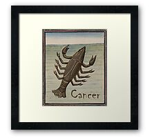 Cancer 15th Century Painting Framed Print