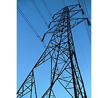 Pylongated - Colour image of a Pylon Photographic Print
