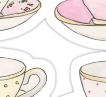 Pastel Teacups Sticker