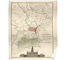 American Revolutionary War Era Maps 1750-1786 215 A plan of the city and environs of Philadelphia  Library of Congress Poster