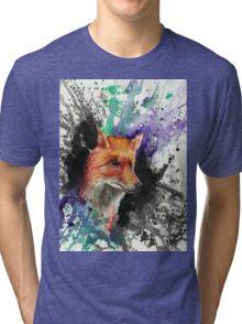 Fox of Many Colors Tri-blend T-Shirt