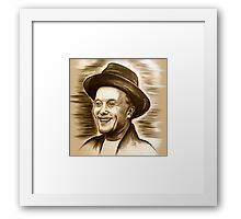 Marky - The Art Of Doing Nothing in brown-beige Framed Print