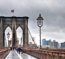 The Walk on Brooklyn Bridge - New York City by Poete100