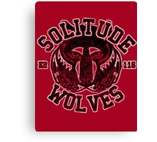 Solitude Wolves - Skyrim - Football Jersey Canvas Print
