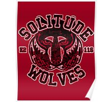 Solitude Wolves - Skyrim - Football Jersey Poster