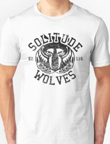 Solitude Wolves - Skyrim - Football Jersey T-Shirt