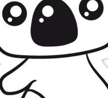 sweet little cute koala holds on Sticker
