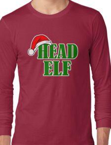 Christmas Head Elf Long Sleeve T-Shirt