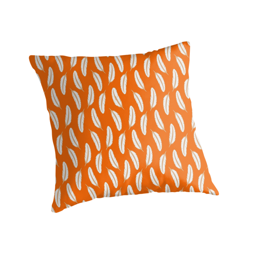 Throw Pillows With Feather Design :