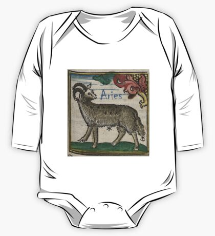 Aries 16th Century Woodcut One Piece - Long Sleeve