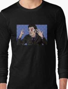 Tardis Tennant ThreeDee Ten Long Sleeve T-Shirt